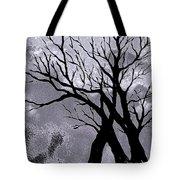 A Winter Night Silhouette Tote Bag