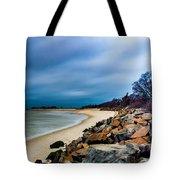 A Winter's Beach Tote Bag
