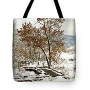 A Winter's Boardwalk Tote Bag
