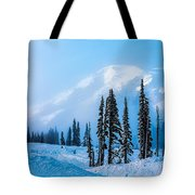 A Wintry Day On Mt Rainier Tote Bag