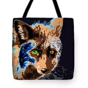 A Wolf Staring Tote Bag