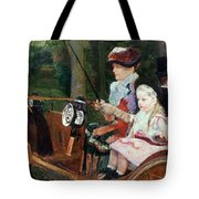 A Woman And Child In The Driving Seat Tote Bag by Mary Stevenson Cassatt