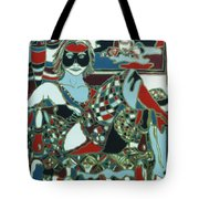 A Woman In Black And Red Tote Bag