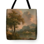 A Wooded Hilly Landscape Tote Bag
