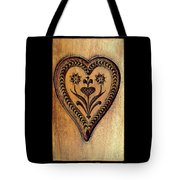 A Wooden Heart Tote Bag