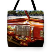 A Woodie At The Beach Tote Bag