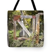 A Woodsy Gate Tote Bag