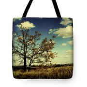 A Yellow Tree In A Middle Of A Dry Field - Wide Angle Tote Bag