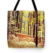 A Yellow Wood Tote Bag