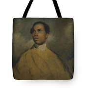 A Young Black Tote Bag