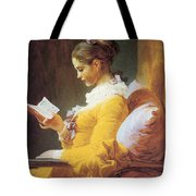 A Young Girl Reading Tote Bag