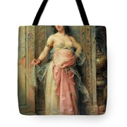 A Young Oriental Girl With A Perfume Burner Tote Bag