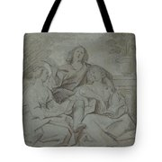 A Youth And Two Girls Singing , Jacob Jordaens Tote Bag