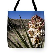 A Yucca Plant Blossoms In The Desert Tote Bag
