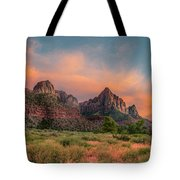 A Zion Sunset Tote Bag