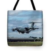 A400m Plane Lands Tote Bag