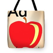 Aa Is For Apple Tote Bag
