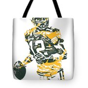 Aaron Rodgers Green Bay Packers Pixel Art 15 Tote Bag