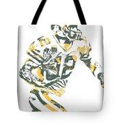 Aaron Rodgers Green Bay Packers Pixel Art 22 Tote Bag