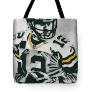 Aaron Rodgers Green Bay Packers Pixel Art 4 Tote Bag