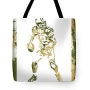 Aaron Rodgers Green Bay Packers Water Color Art 1 Tote Bag