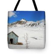 Abandon Building Alaskan Mountains Tote Bag