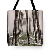 Abandon Pier Thru The Fog Tote Bag