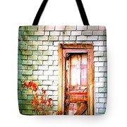 Abandonded Farm Door Tote Bag
