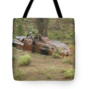 Abandoned Antique Car Tote Bag