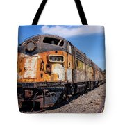 Abandoned Bessemer And Lake Erie Trains Schellville California Tote Bag