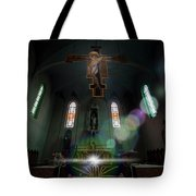 Abandoned Blue Church - Chiesa Blu Abbandonata Tote Bag by Enrico Pelos