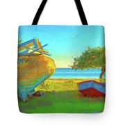 Abandoned Boats On Choctawhatchee Bay Tote Bag