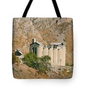 Abandoned Cement Silos Tote Bag