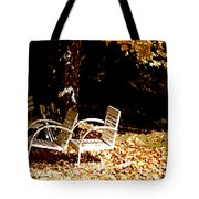 Abandoned Chairs Tote Bag