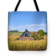 Abandoned Corn Field House Tote Bag