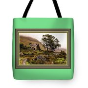 Abandoned Cottage - Scotland H A With Decorative Ornate Printed Frame Tote Bag
