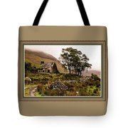 Abandoned Cottage - Scotland H B With Decorative Ornate Printed Frame Tote Bag