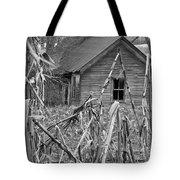 Abandoned Farmhouse Through Cornfield Tote Bag