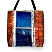 Abandoned House Window With Vines Tote Bag