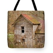 Abandoned House With Colorful Roof Tote Bag