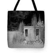Abandoned In The Field Black And White Tote Bag