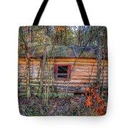 Abandoned Log Cabin Tote Bag