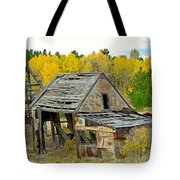 Abandoned Mine In Autumn Tote Bag