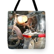 Abandoned Motorbike  Tote Bag