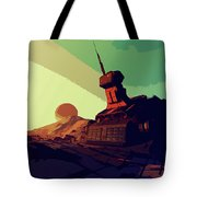 Abandoned On An Alien World Tote Bag