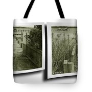Abandoned Pier - Gently Cross Your Eyes And Focus On The Middle Image Tote Bag