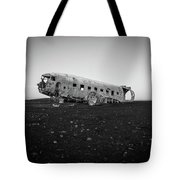 Abandoned Plane On Beach Tote Bag