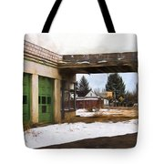 Abandoned Service Station Painterly Impressions Tote Bag
