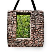 Abandoned Stone Wall With Window Tote Bag