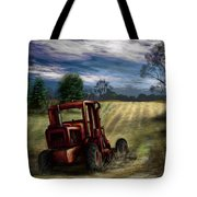Abandoned Tractor Tote Bag by Ron Grafe